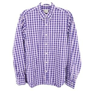 J Crew Slim Fit Button Down Shirt Plaid Check